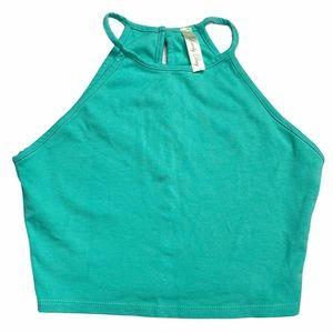 Halter Green Top
